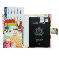 Peony Flower Passport Holder Travel Cover Case Passport Cover Bag Protector D