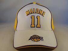 Karl Malone Los Angeles Lakers NBA Vintage Adjustable Strap Hat Cap