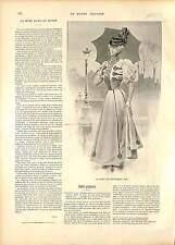 COSTUME ROBE MODE FEMME SEPTEMBRE FRANCE 19 XIX JUILLET 1896 SIÈCLE 1896