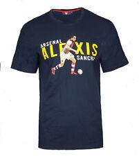 Mens LARGE Official ARSENAL FC Player T Shirt ALEXIS SANCHEZ Top Football AT29