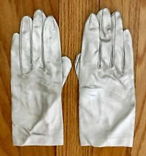 Vintage MCM Womens Silver Metallic Dressy Gloves Evening Party Glam JAPAN Small