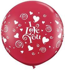 Ballons de fête rouge pour la maison Saint Valentin
