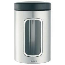 Brabantia lata de té vidrio apilables con tapa para hasta 60 bolsitas de té