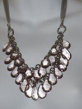 Ann Taylor Purple Teadrop Tiered Tie Necklace NWOT $49.50
