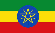 Ethiopia With Star Ethiopian 3' X 2' 3ft x 2ft Flag With Eyelets Premium Quality