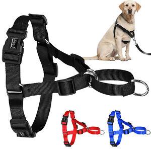 Pull Nylon Dog Harness Easy Control No Choke For Dog Training Black Blue Red