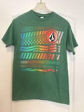 Volcom Stone Boarding Men's T Shirt Small Green Graphic Short Sleeve