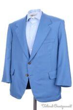 OXXFORD Clothes Lightning Blue Super 150 Wool Blazer Sport Coat Jacket - 42 S