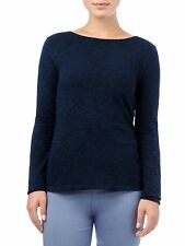 Phase Eight L/Sleeve Slash Neck Tee T Shirt Top Size 12 BNWT Navy Uk Freepost