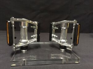 "New 90's VP-386 9/16"" Silver Alloy Pedals Fit:  Road Track Touring Shimano Mks"