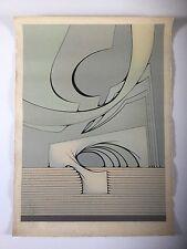 Joaquin Ferrer, Original Signed Abstract Gray Lithograph, Cuba Paris Art