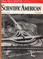 1936 Scientific American October -Normandie; Types of insanity; Acoma NM;Bridges