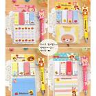 Girl Paper Removable Flags Adhesive Memo Sticky Notes Bear Post It