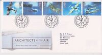 GB ROYAL MAIL FDC FIRST DAY COVER 1997 ARCHITECTS OF THE AIR STAMP SET BUREAU