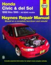 Haynes Manuals: Honda Civic and Del Sol, 1992-1995 by Haynes Automobile Repair M