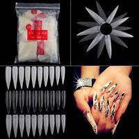 500Pcs/Bag Natural white French Acrylic False Fake Nail Art Fingernail Full Tips