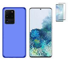 Funda Samsung Galaxy S20 Ultra Azul TPU GEL SILICONA + PROTECTOR COMPLETO 3D