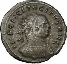 Tacitus shaking hands with Concordia 275AD Very rare Ancient Roman Coin i52713