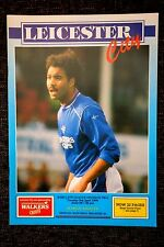 1989/90 LEICESTER CITY v OLDHAM ATHLETIC Division 2 match programme 3.4.1990