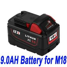 18V 9.0Ah Red Lithium Ion XC 9.0 Battery For Milwaukee M18 M18B4 48-11-1828