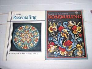 Lot 2 Rosemaling books Vi Thode techniques patterns Rogaland Telemark designs