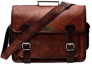 Vintage Briefcase Satchel Genuine Leather Laptop Messenger Shoulder Bag Handmade