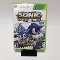 Sonic Generations (Microsoft Xbox 360, 2011) CIB, Works!