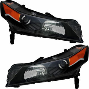 FIT FOR ACURA TL 2012 2013 2014 HEADLIGHT W/HID RIGHT & LEFT PAIR SET