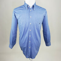Nautica Men's Blue Long Sleeve Button Down Dress Shirt Size 16.5 32/33