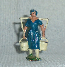 "Vintage Lead Johillco ""Milkmaid With Yoke And Pails"" #318 Near Mint Free Ship D"