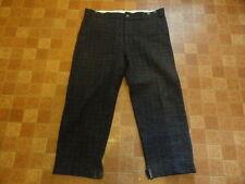Men's Vtg CODET Gray Thick Plaid Wool Hunting Field Chores Workwear Pants Sz-40