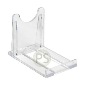 """Small Display Stands x 10 :  Clear Plastic 5cm, 2"""" : Plate, Bowl etc"""