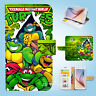 Samsung Galaxy S3 4 5 6 7 8 Edge Plus Note Wallet Case Cover Ninja Turtles W084