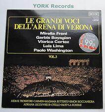SDD 572 - LE GRANDI VOCI DELL'ARENA DI VERONA Vol 3 - Various - Ex Con LP Record