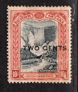 $Brit./Guiana Sc#158a M/LH/VF+, Gents O/P error, Cv. $57.50