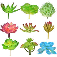 Artificial Succulents Plant Garden Miniature Fake Cactus Home Floral Decors HU