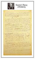 Theory of Relativity 15x22 Hand Numbered Ltd. Edition Einstein E=mc2 Art Print