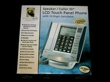 Corded Lcd Touch Panel Phone Speaker / Caller Id Nib Silver / Gray [A3]