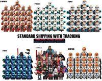 21pcs STAR WARS Clone Army Minifigures 501st Legion Trooper Lot Moc For Legos