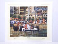 SENNA'S DOMAIN Monaco GP Limited Signed Ferrigno Print McLaren Ron Dennis Ayrton