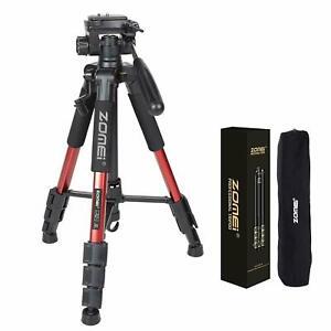 "UK Zomei 55"" Q111 RED PanHead Tripod travel  for Canon Nikon Sony DSLR Camera"