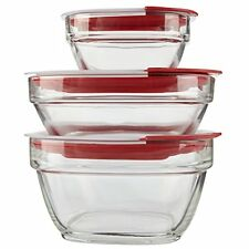 Rubbermaid Easy Find Lid Glass Food Storage Container, 6-Piece Set (2856010), No