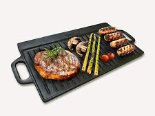 Homiu Cast Iron Griddle Pan, Reversible Double Sided and Non-Stick