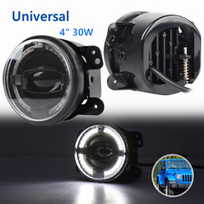 "4"" 30W LED Round Car Fog Lights Universal Len Projector Fit For JEEP Wrangler JK"