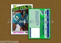 Gary Simmons - California Seals - Custom Hockey Card  - 1975-76