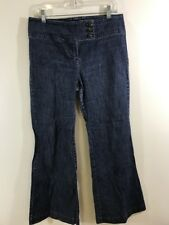 New York And Co Battery Park Size 12 Bell Bottoms Flare Hippie Womens