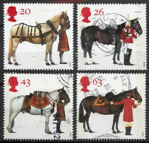 GB 1997 All the Queen's Horses set SG 1989-1992 used *COMBINED POSTAGE*