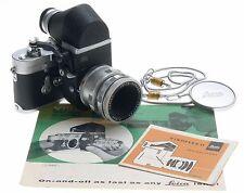LEICA M3 CHROME CLA CAMERA BODY VISOFLEX II SLR ELMAR 1:3.5/65 LENS f=65mm MORE