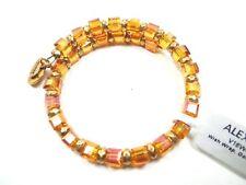 ALEX and ANI Russian Gold Wish Wrap Golden Days Bracelet w/Charms