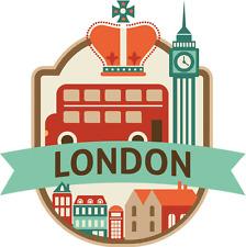 """London United Kingdom World City Travel Car Bumper Sticker Decal 5"""" x 5"""""""